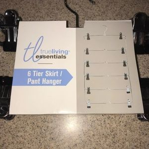 True Living Essentials Storage & Organization - 6 Tier Skirt Pants Hanger Closet Organization